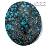 A+ BLACK WEB KINGMAN Natural Spiderweb Turquoise Cabochon Cab Fr Ring Cuff 6.95
