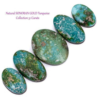 SONORAN GOLD Turquoise Cabochon Cab Natural Spiderweb Bracelet or Ring LOT 51CT