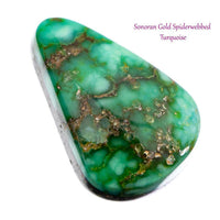 SONORAN GOLD Turquoise Cabochon Cab Natural Web Not Carico Lake 6.25ct 4 Jewelry