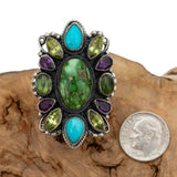 "LEO FEENEY Turquoise Ring ""DRAMING FORES"" Sterling Silver SONORAN GOLD Gemstone"