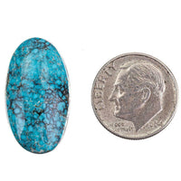 Natural Turquoise Cabochon Cab ITHACA PEAK Natural Spiderweb Not Lander Blue 13.