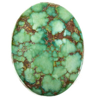 A++ SONORAN GOLD Turquoise Cabochon Cab Natural Spiderweb Not Carico Lake 11.35