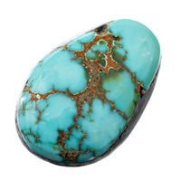 CARICO LAKE TURQUOISE Cabochon Cab Natural BLUE WEB Spiderweb 7.85CT Gem