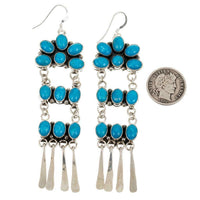 Ronald Platero Turquoise Chandelier Earrings
