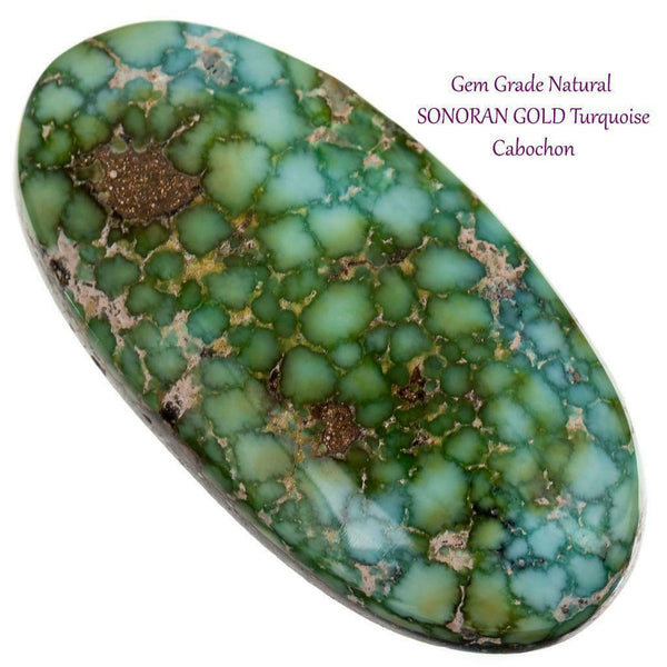 SONORAN GOLD Turquoise Cabochon Cab Natural Spiderweb Bracelet r Ring 20ct