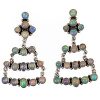 Zuni Opal Dangle Chandelier Earrings