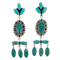 C. Wylie Turquoise Chandelier Earrings