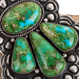 Squash Blossom Necklace Pendant SONORAN GOLD Turquoise  Native American Old Styl
