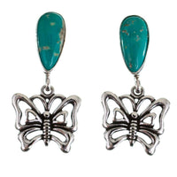 Navajo Turquoise Butterfly Earrings