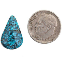 A+ BLACK WEB KINGMAN Natural Spiderweb Turquoise Cabochon Cab 6.25 GEM GRADE
