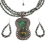 Darryl Becenti Royston Turquoise Necklace and Earrings Set