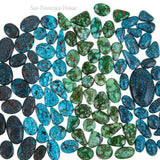 A+ BLACK WEB KINGMAN Turquoise Cabochon Cab Natural Spiderweb 10 Not Lander Blue