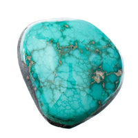 CARICO LAKE TURQUOISE Cabochon Cab Natural BLUE WEB Spiderweb 8.05CT Gem