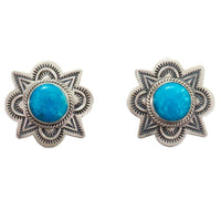 Navajo Turquoise Earrings Old Pawn Style