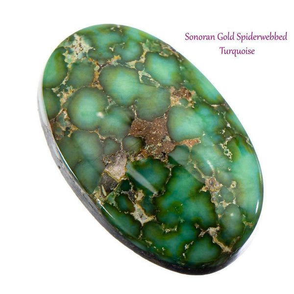 SONORAN GOLD Turquoise Cabochon Cab Natural Web Not Carico Lake 8.5c 4 Necklace