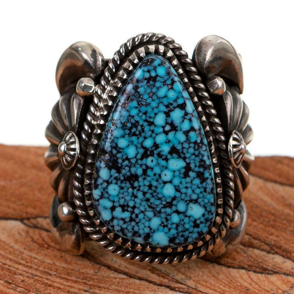 Turquoise Ring Sterling Silver DELBERT GORDON NATURAL Kingman Mens 9.5 Spidweweb