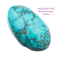 CARICO LAKE TURQUOISE Cabochon Cab Natural BLUE WEB Spiderweb 9.80CT Gem