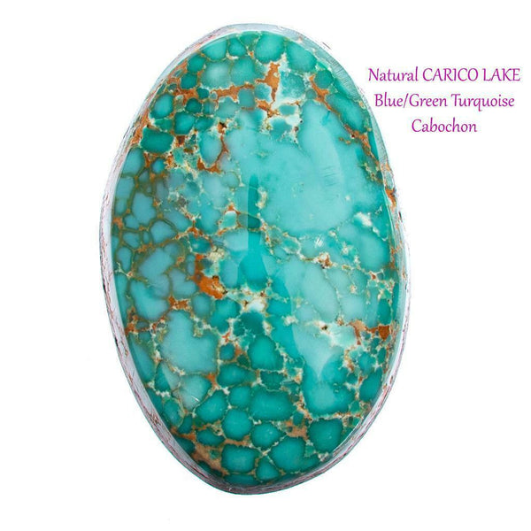 A+ CARICO LAKE TURQUOISE Cabochon Cab Natural BLUE WEB Spiderweb 9.30CT Gem