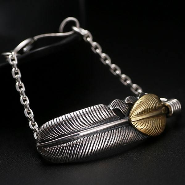 Gold Leaf Silver Feather Luxury Bracelet