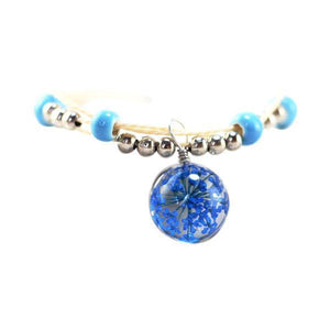 Dried Flowers Glass Ball Ceramic Bracelets [8 Variants]