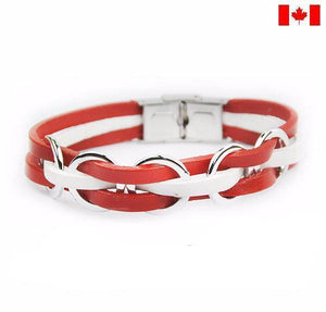 Support Canada Genuine Leather Bracelet