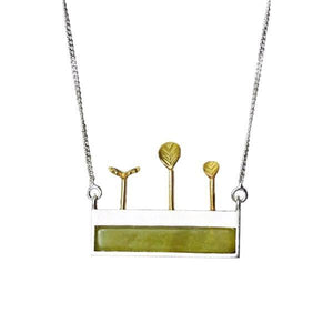 Sweet Garden Modern Silver Necklace