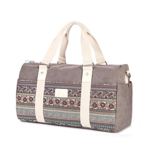 CUTE ETHNIC CARRY ON FLORAL WEEKEND BAG