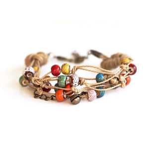 Colorful Beads Ethnic Style Ceramic Bracelets [5 Variants]