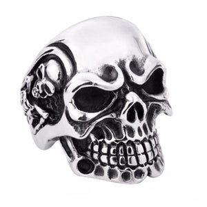 Punk Stainless Steel Skull Ring