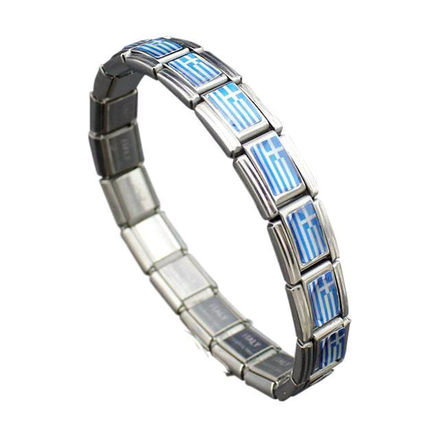 Support Greece Stainless Steel Bracelet