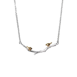 Sweet Tweets Sterling Silver Necklace [2 Variants]