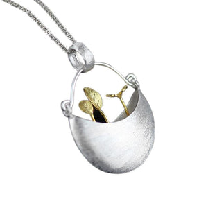 Sweet Garden Vintage Silver Necklace [2 Variants]