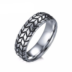 Stainless Steel Classic Silver Tire Ring