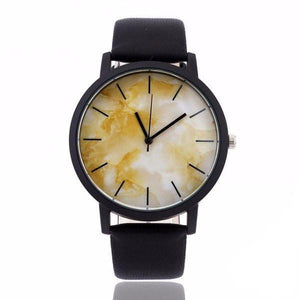 Aurora Marble Deluxe Leather Watch