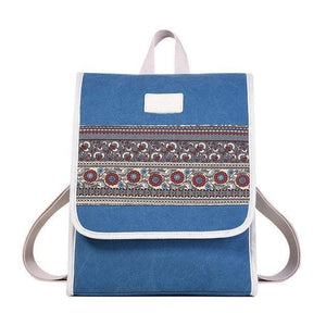 FLORAL DAYPACK WOMENS CANVAS BACKPACK [3 VARIANTS]