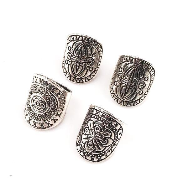 Medieval Boho Ring Set [4 Rings]