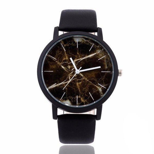 Sienna Marble Deluxe Leather Watch