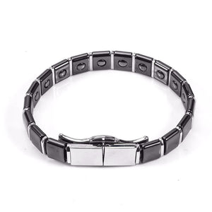 Magnetic Hematite Inlay Ceramic Healing Bracelet [2 Variants]