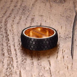 Black Carbon Fiber Tire Ring