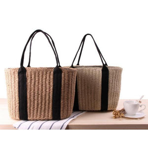 CASUAL STRAW BASKET TOTE BAG [2 VARIANTS]