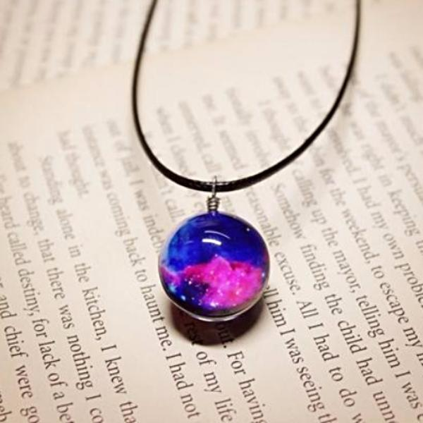 Glass Galaxy Pendant Necklace [17 Variants]