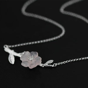Dainty Diphelleia Sterling Silver Necklace [2 Variants]