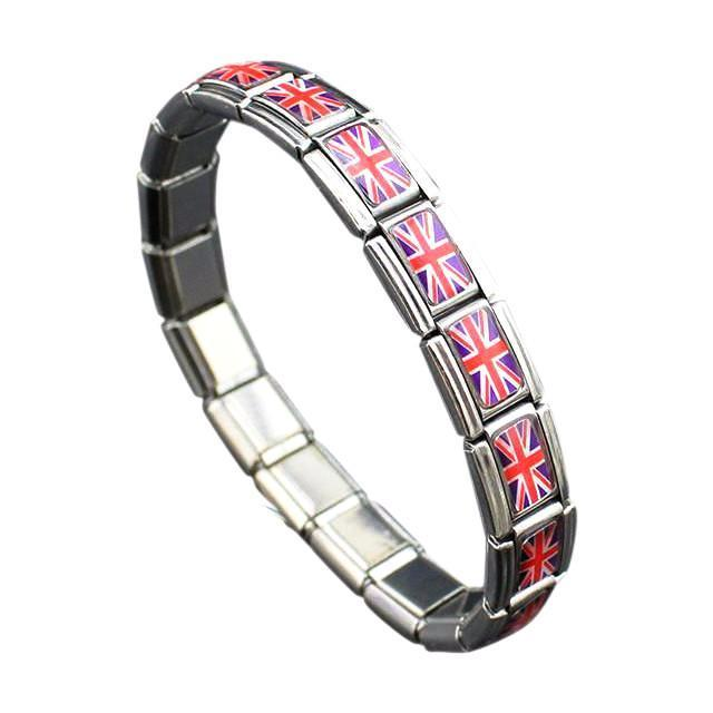 Support United Kingdom Stainless Steel Bracelet