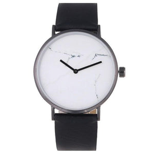 Sirene de Soleil Leather Marble Watch