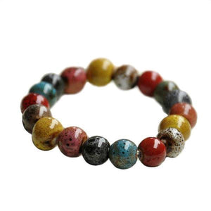 Multicolor Ceramic Beads Bracelet [7 variations]