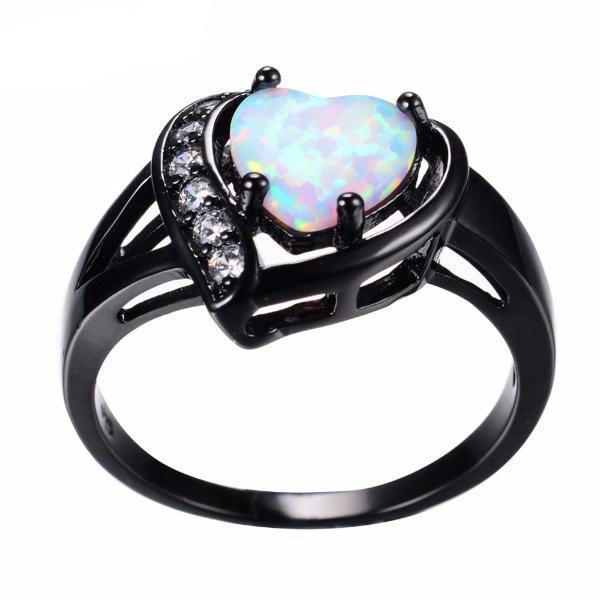 Solid Opal Engagement Ring