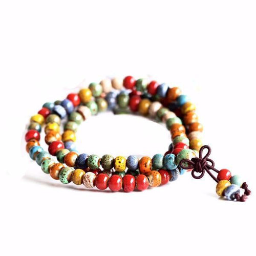 Layered Maxi Boho Mala Beads Ceramic Bracelet [7 Variants]