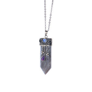 Natural Spiritual Stone Pendant Necklace [10 colors]