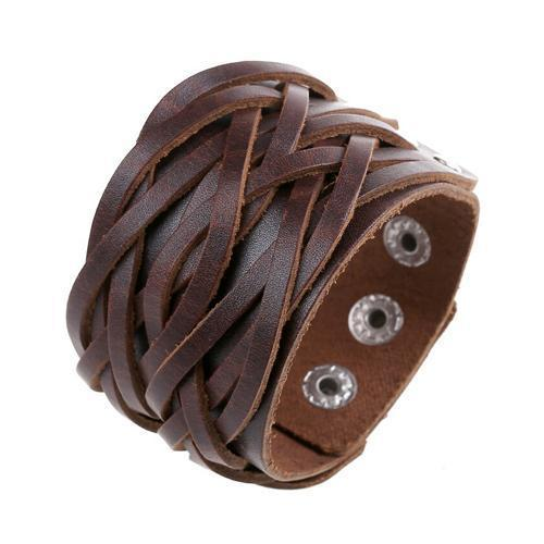 Thick Genuine Leather Cuff Bracelet [3 Variants]
