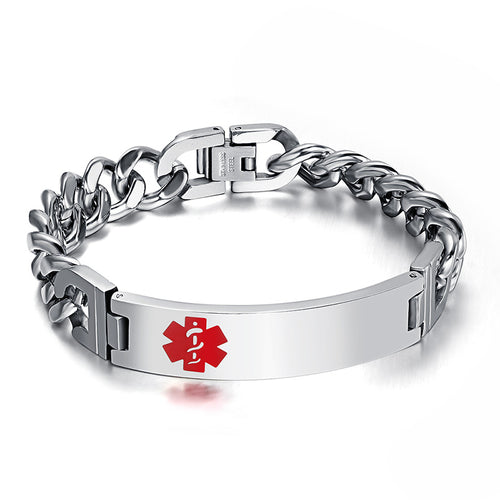 High Quality Stainless Steel Medical Alert Bracelet